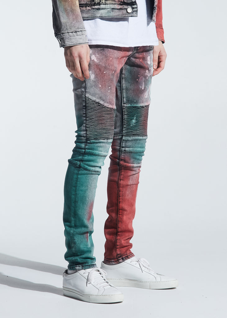 Hunter Biker Denim (Tie Dye Paint Wash)