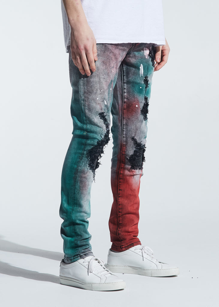 Hunter Rip & Repair Denim (Tie Dye Paint Wash)