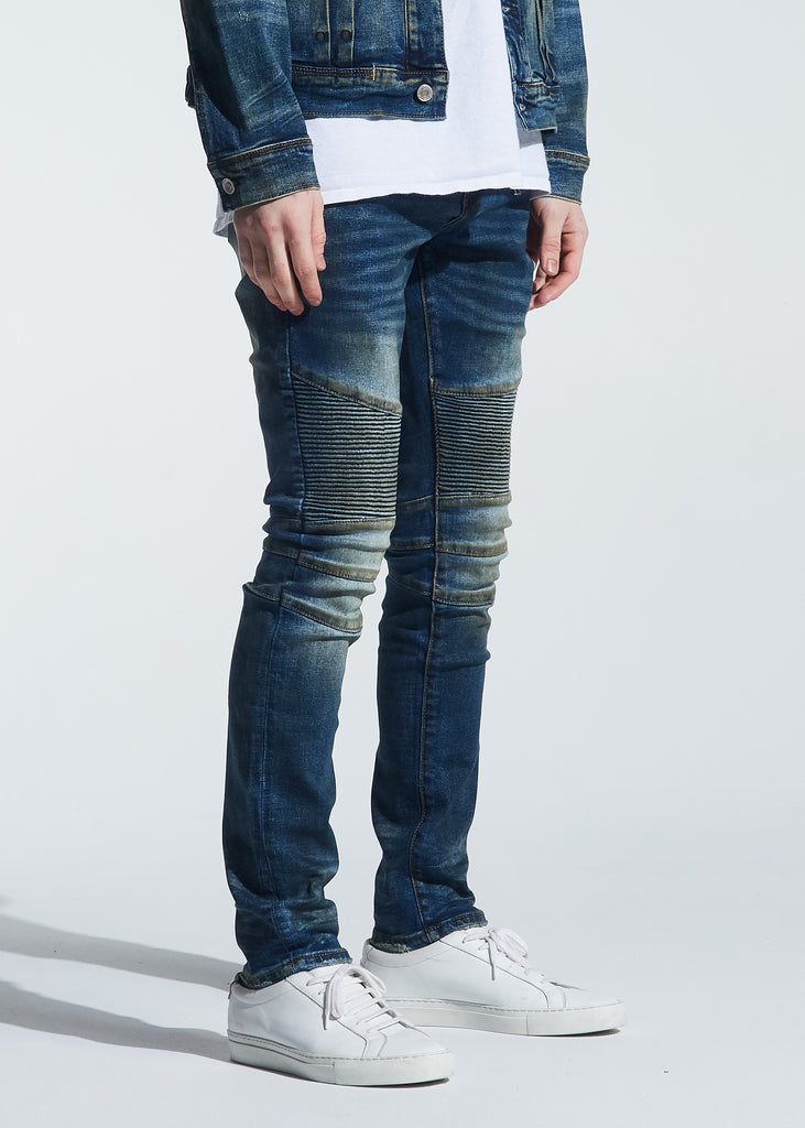 Garland Biker Denim (Dirty Indigo Wash)