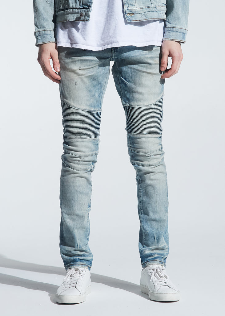 Culver Biker Denim (Light Indigo Wash)