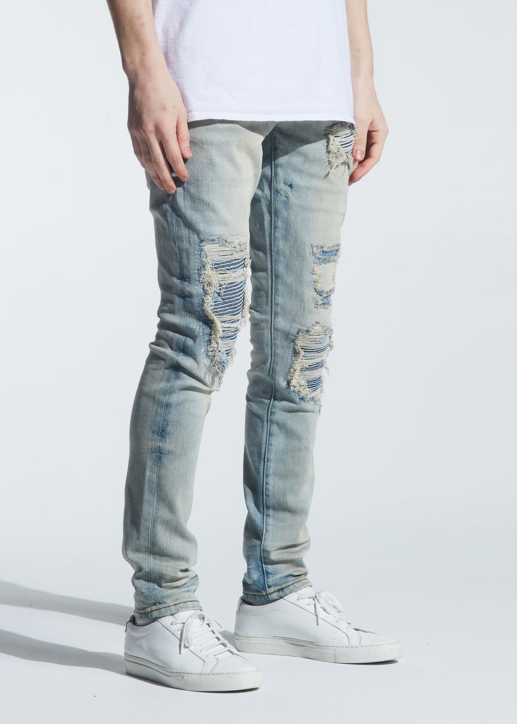 Culver Rip & Repair Denim (Light Indigo Wash)