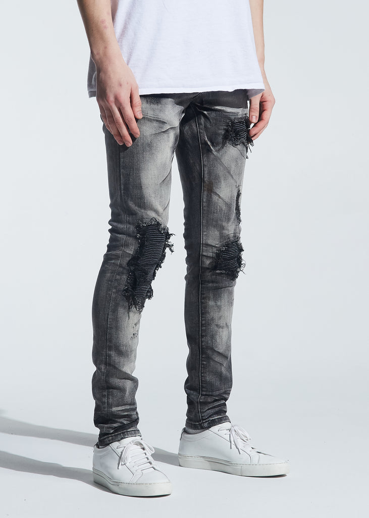 Hayes Rip & Repair Denim (Distressed Grey Wash)