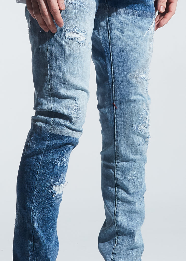 Langford Standard Denim (Patchwork Light Indigo)