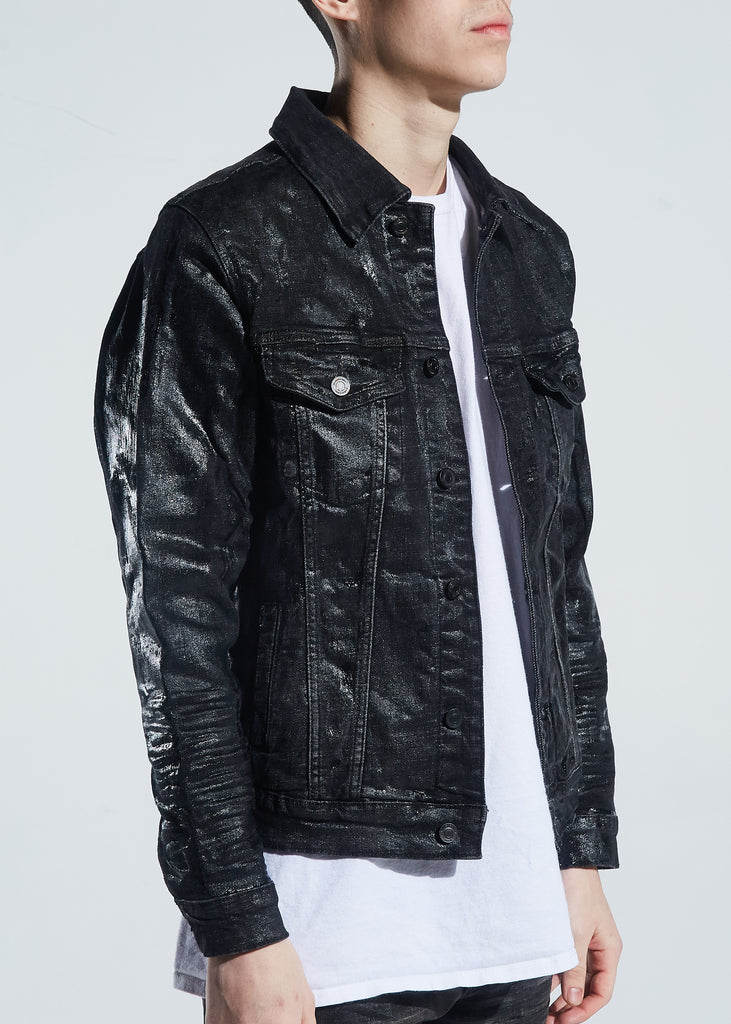 Morant Denim Jacket (Waxed Black)