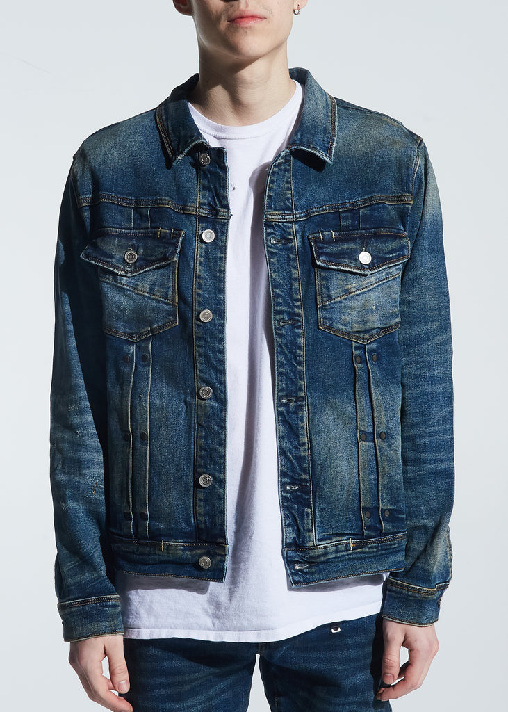 Garland Denim Jacket (Dirty Indigo Wash)