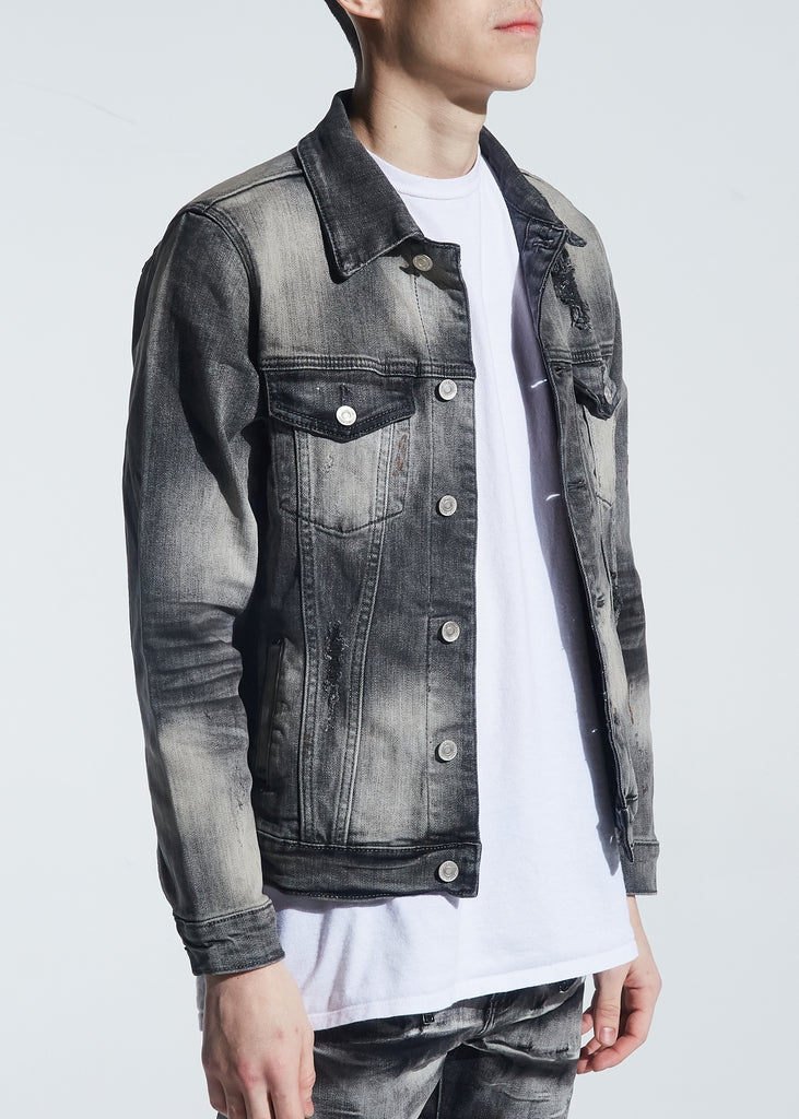 Hayes Denim Jacket (Distressed Grey Wash)