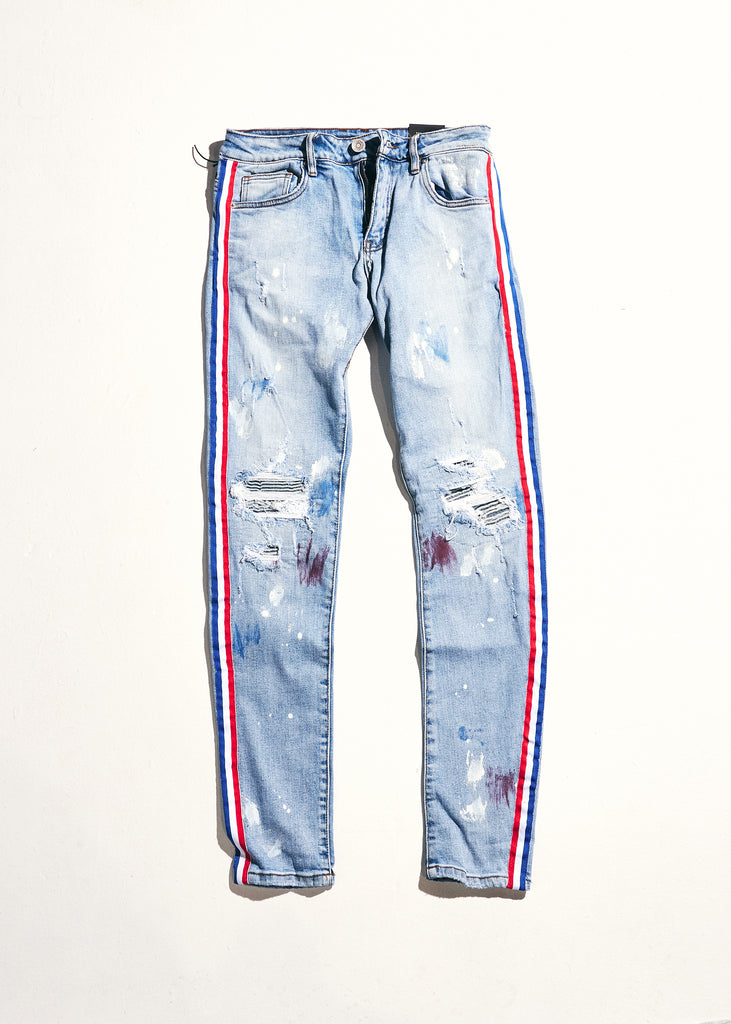Willups Stripe Denim (Blue)