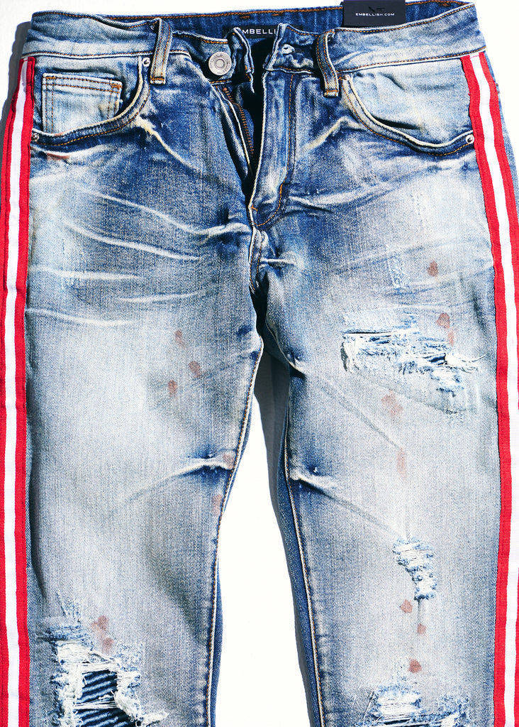 Willups Stripe Denim (Blue/Red)