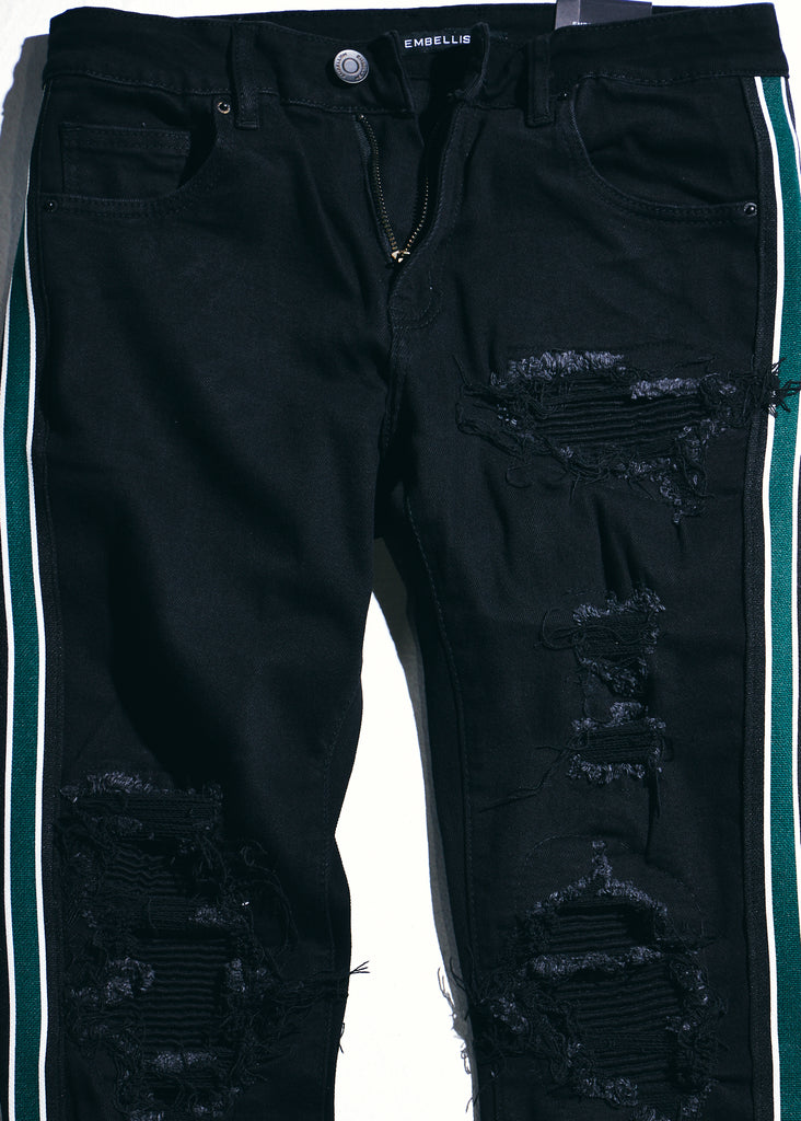Willups Stripe Denim (Black/Green)