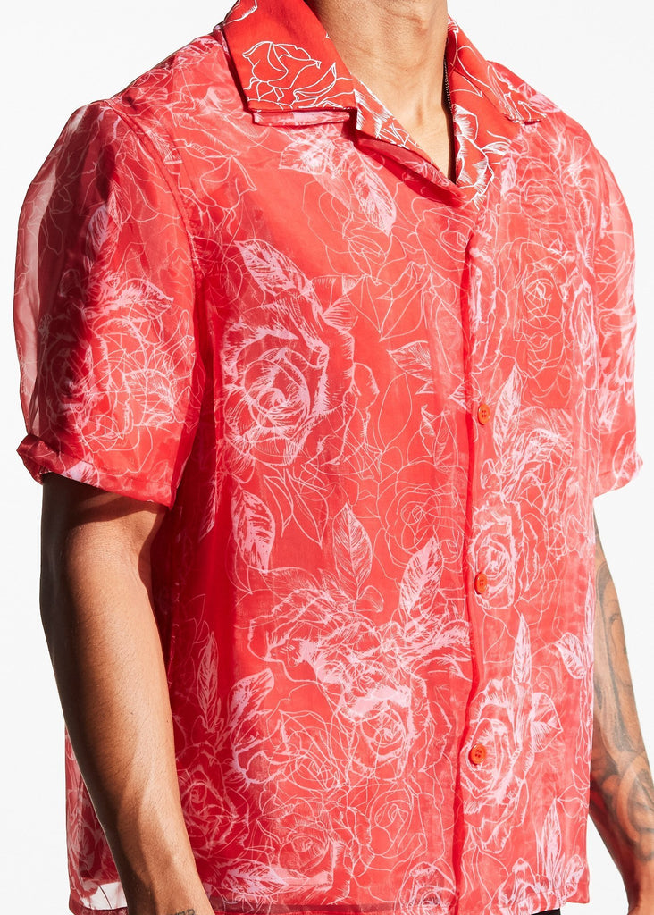 Huban Button-Up (Red)