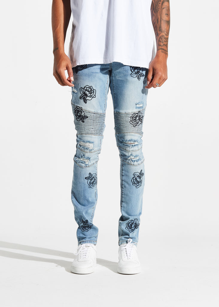Houten Biker Denim (Mid Blue)