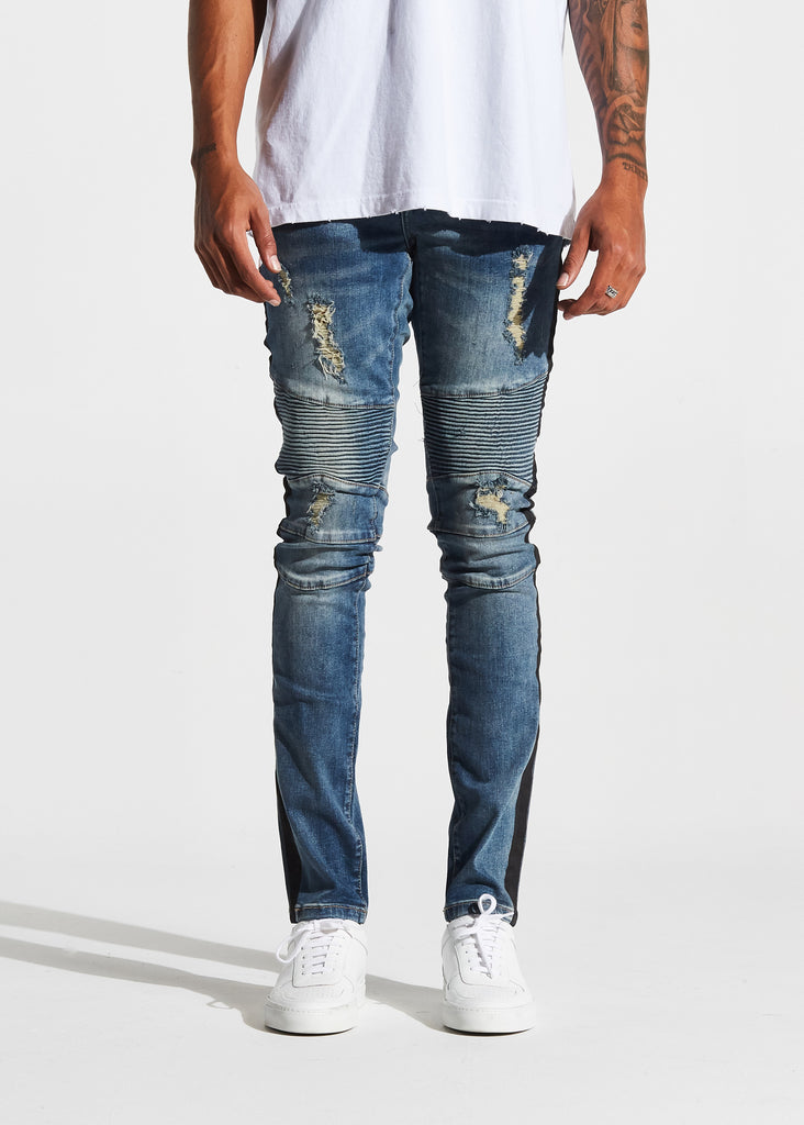 Racer Biker Denim (Vintage Blue)