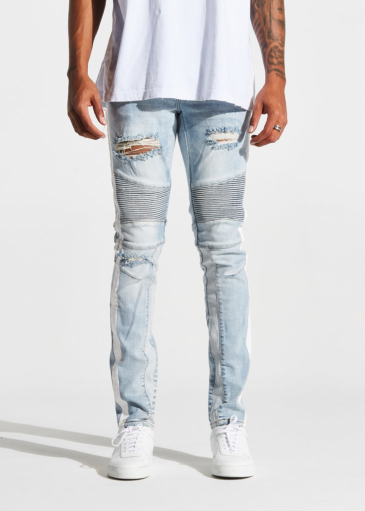 Leonard Biker Denim (Cloud Blue)