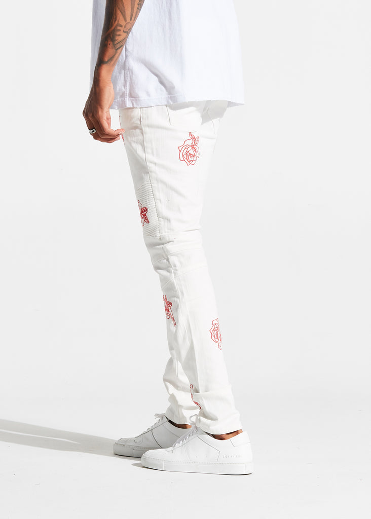 Houten Biker Denim (White)