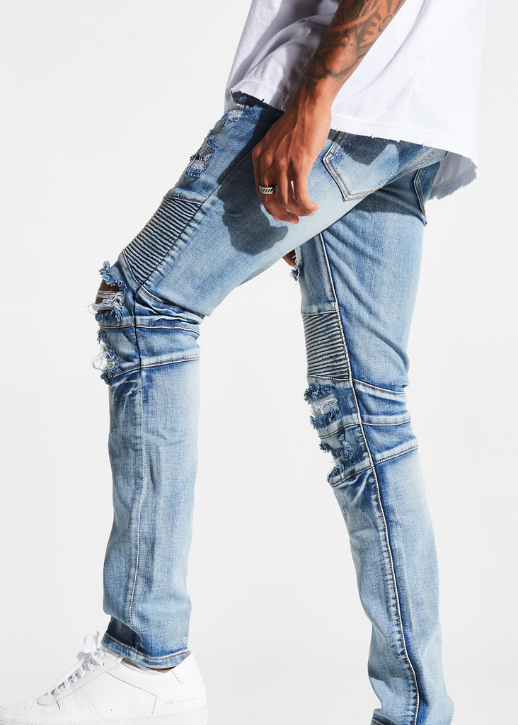 Hoover Biker Denim (Mid Blue)