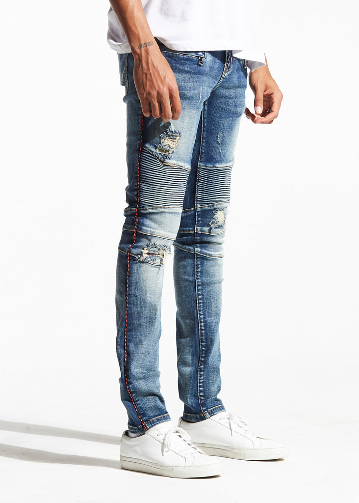 Burns Biker Denim (Indigo Vintage)