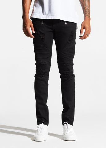 Cuervo Biker Denim (Blue Clay)