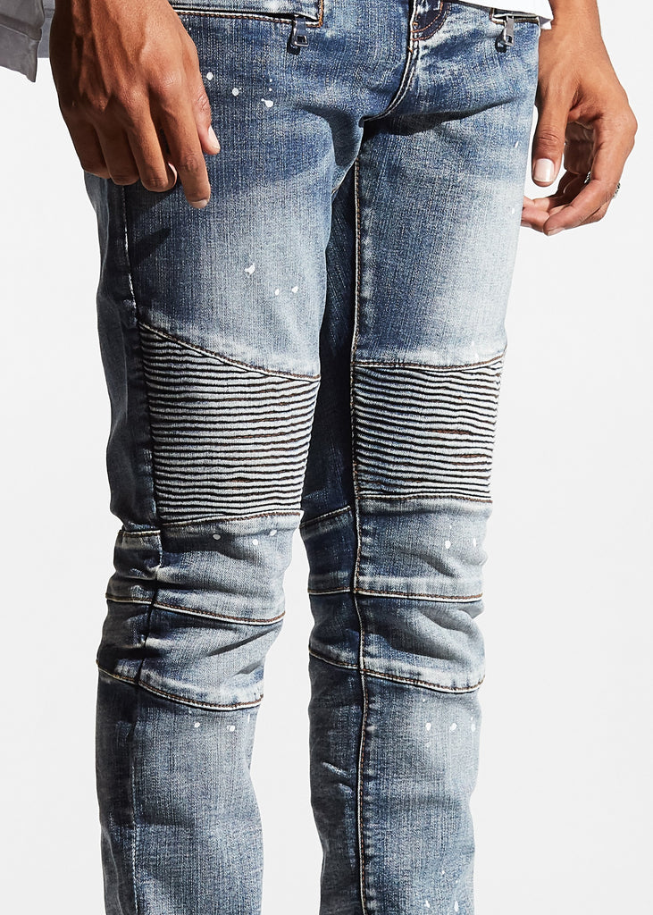 Jupiter Biker Denim (Medium Blue)