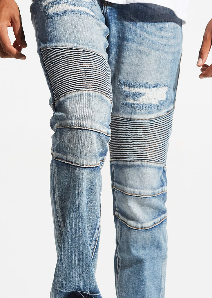 Apollo Biker Denim (Blue Rip Repair)