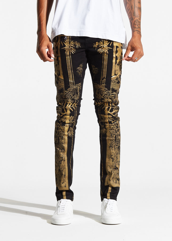 Phoenix Biker Denim (Black Gold)