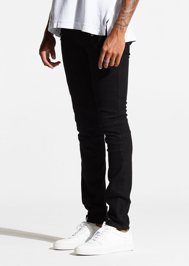 Spencer Biker Denim (Black)
