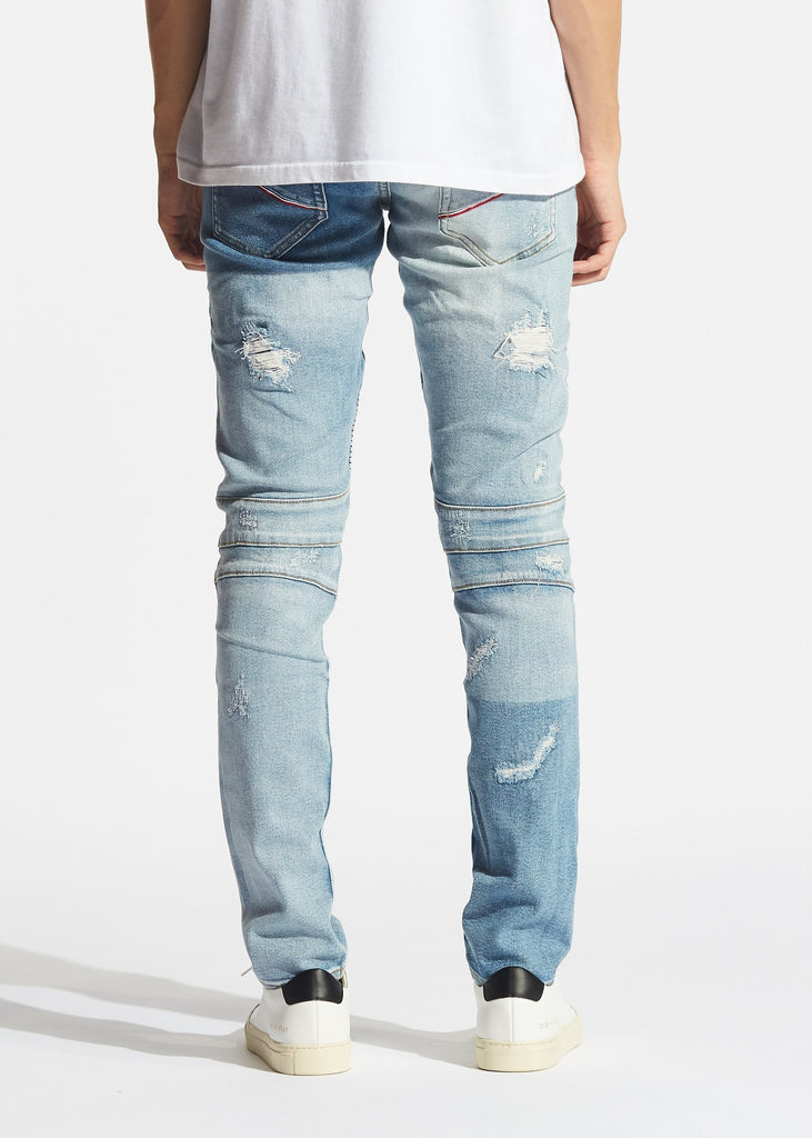 Logan Biker Denim (Light Blue)