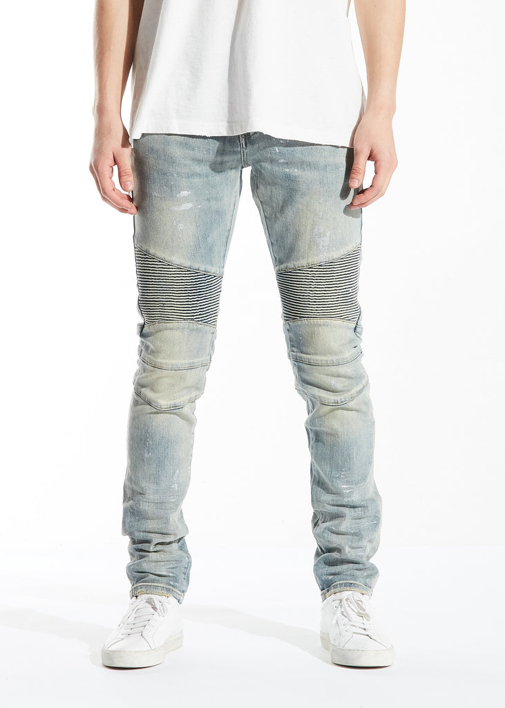 Antonio Biker Denim (Light Blue)
