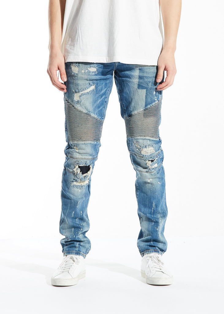 Frida Biker Denim (Blue)