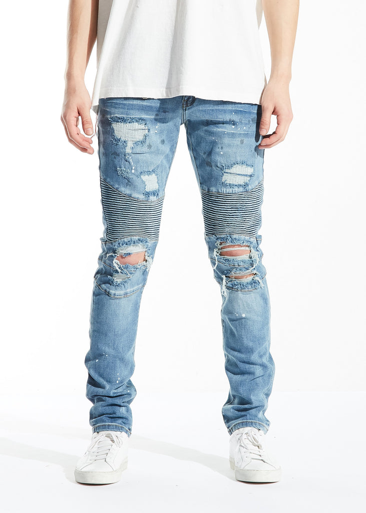 Tamara Biker Denim (Blue)