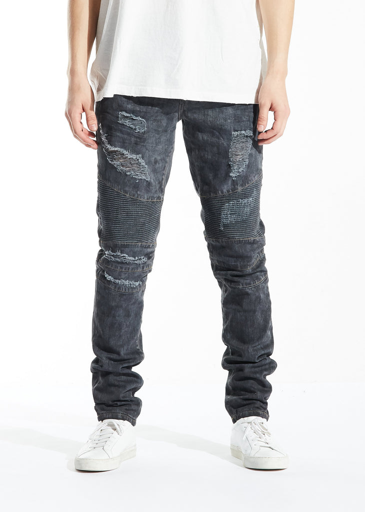 Tiziano Biker Denim (Black Overdye)