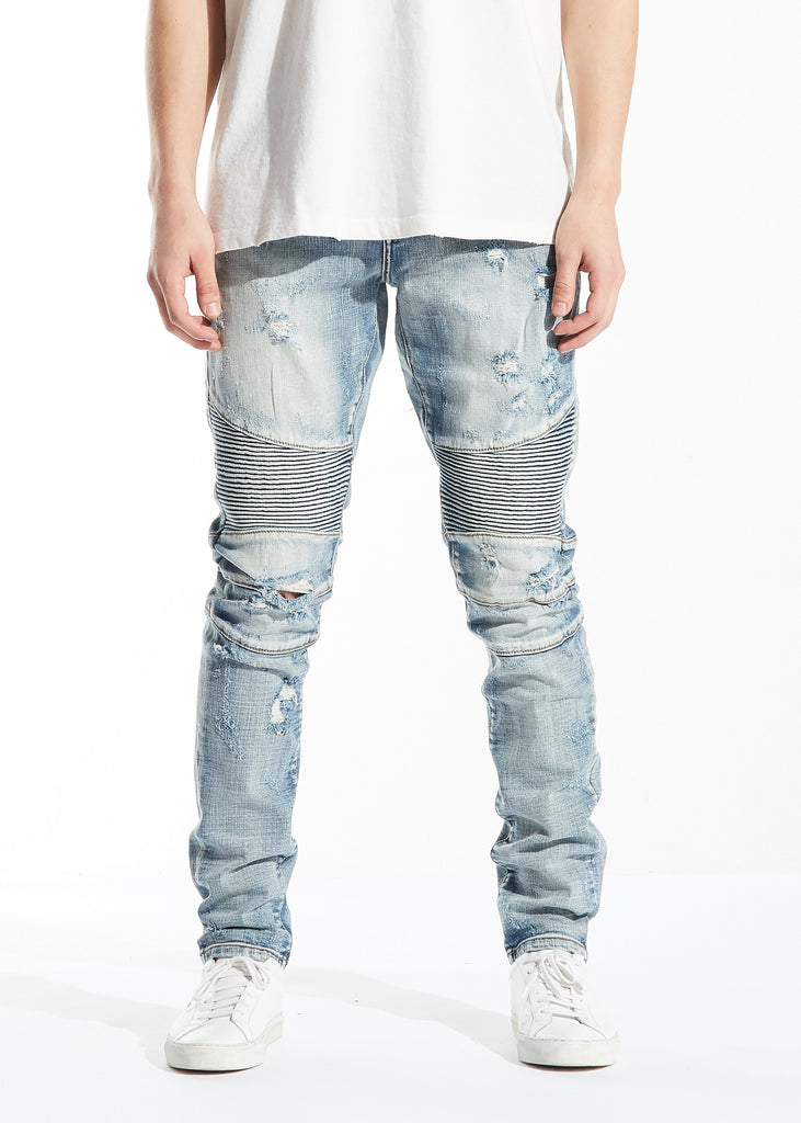Pieter Biker Denim (Light Blue)