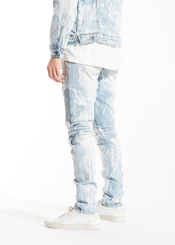 Peterson Biker Denim (Light Blue Bleach)