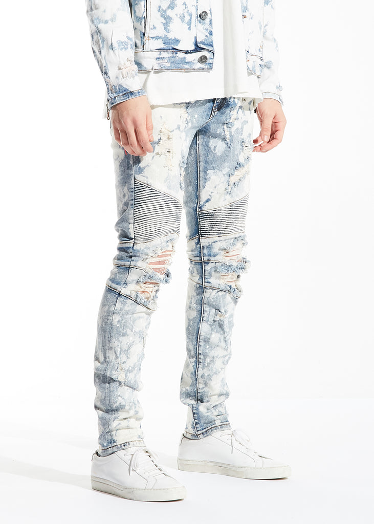 Braxton Biker Denim (Bleach Acid Wash)