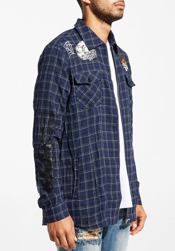 Auguste Flannel Jacket (Navy)