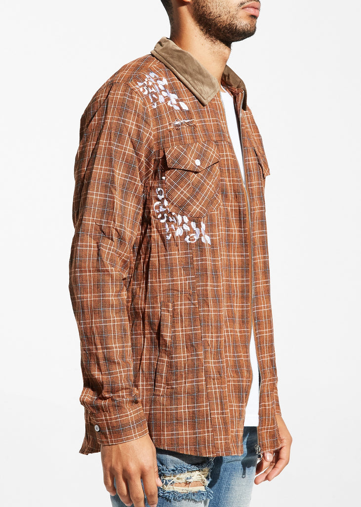 Auguste Flannel Jacket (Brown)