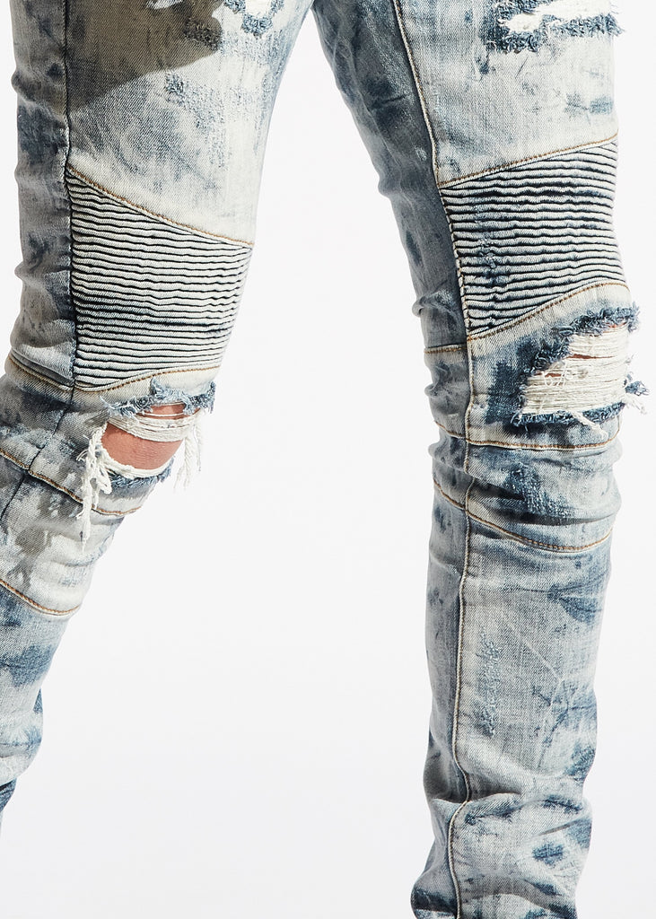 Jazmin Biker Denim (Acid Wash)
