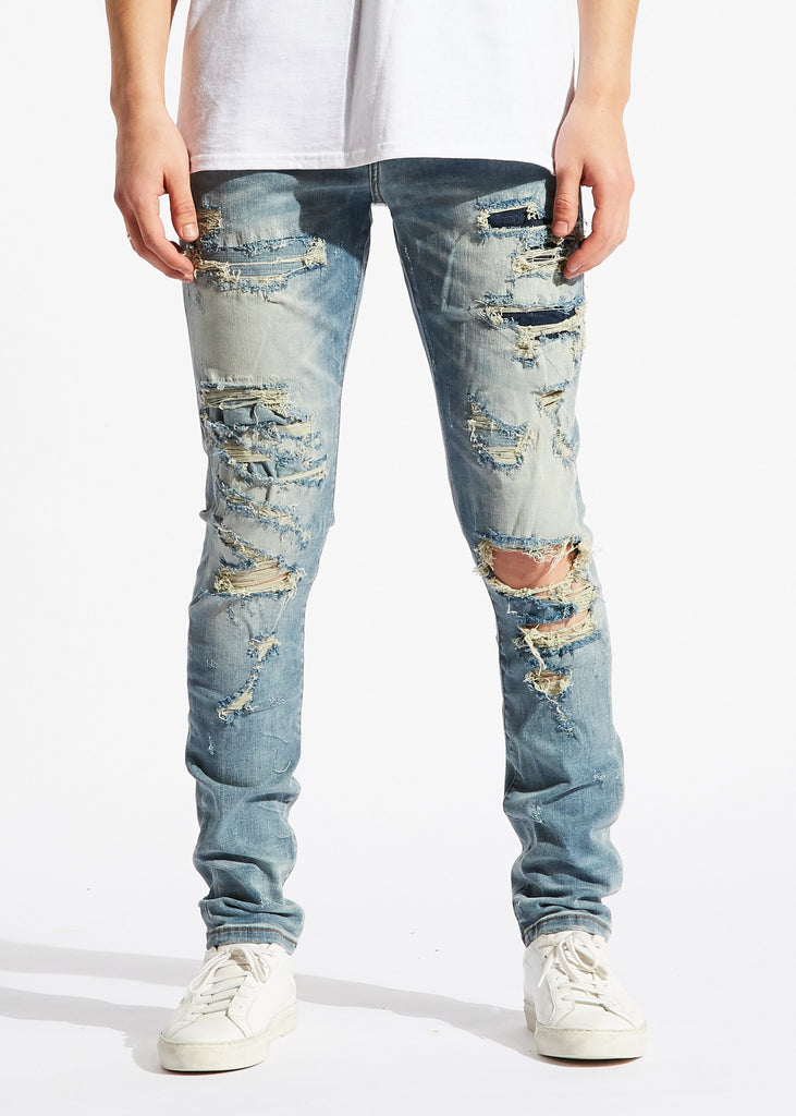 Darleen Standard Denim (Blue Distressed)