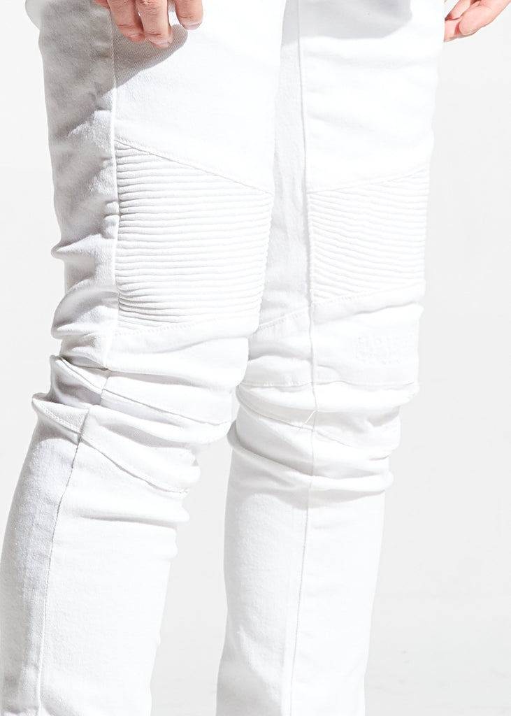 Parker Biker Denim (White)