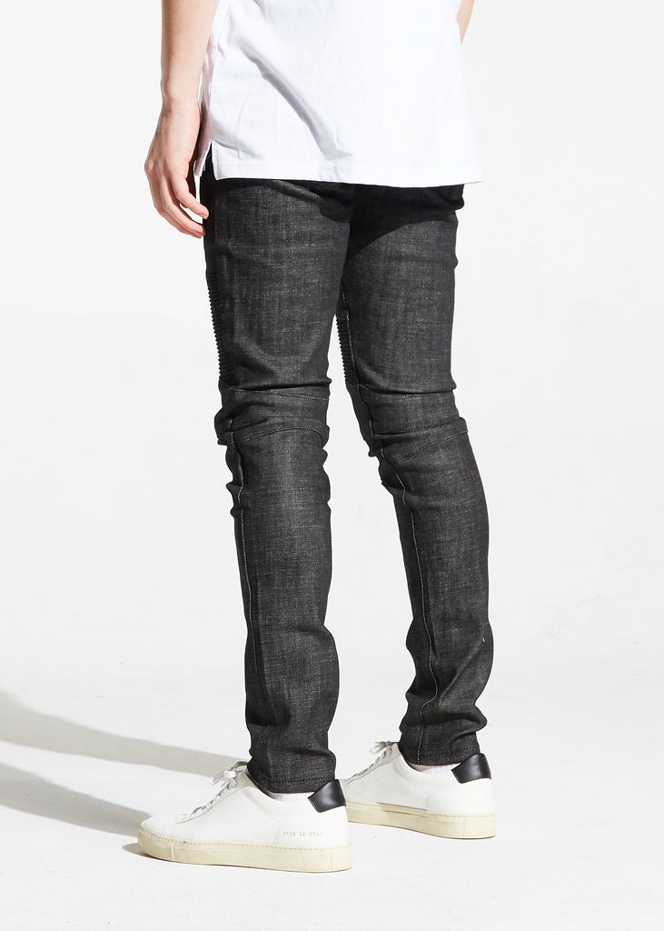 Zak Biker Denim (Charcoal)