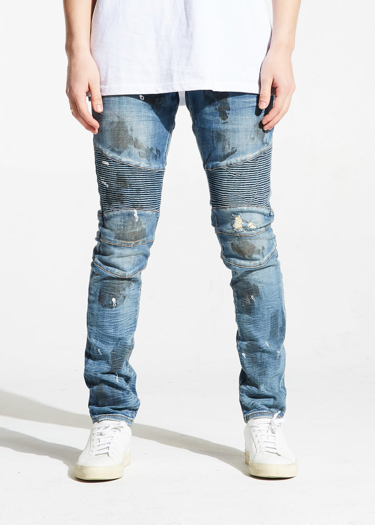 Camren Biker Denim (Blue)
