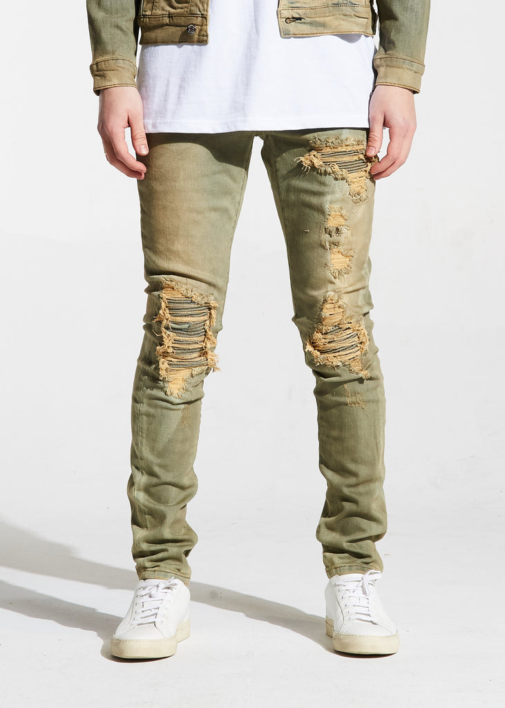 Valentino Rip and Repair Denim (Sand)