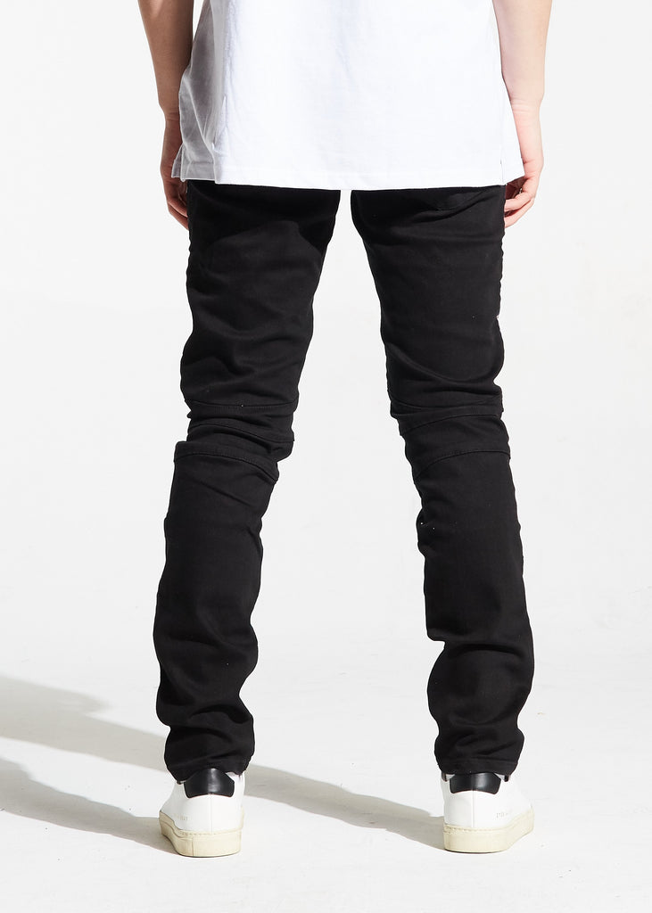 Khalil Biker Denim (Black)