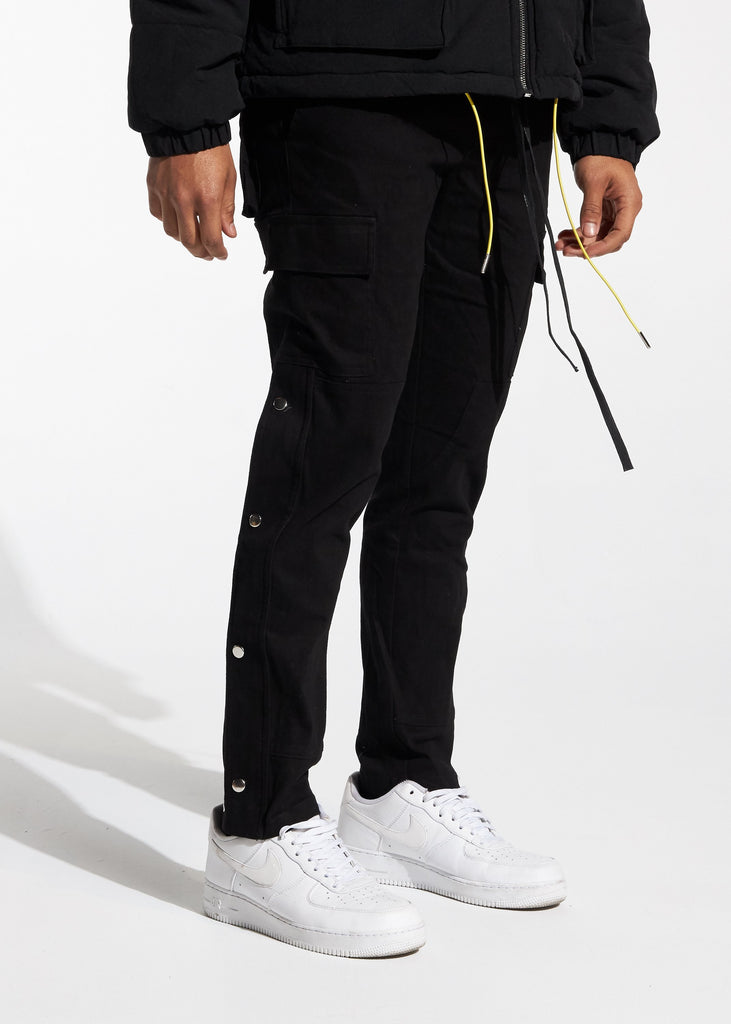 Snap Cargo Pants (Black)