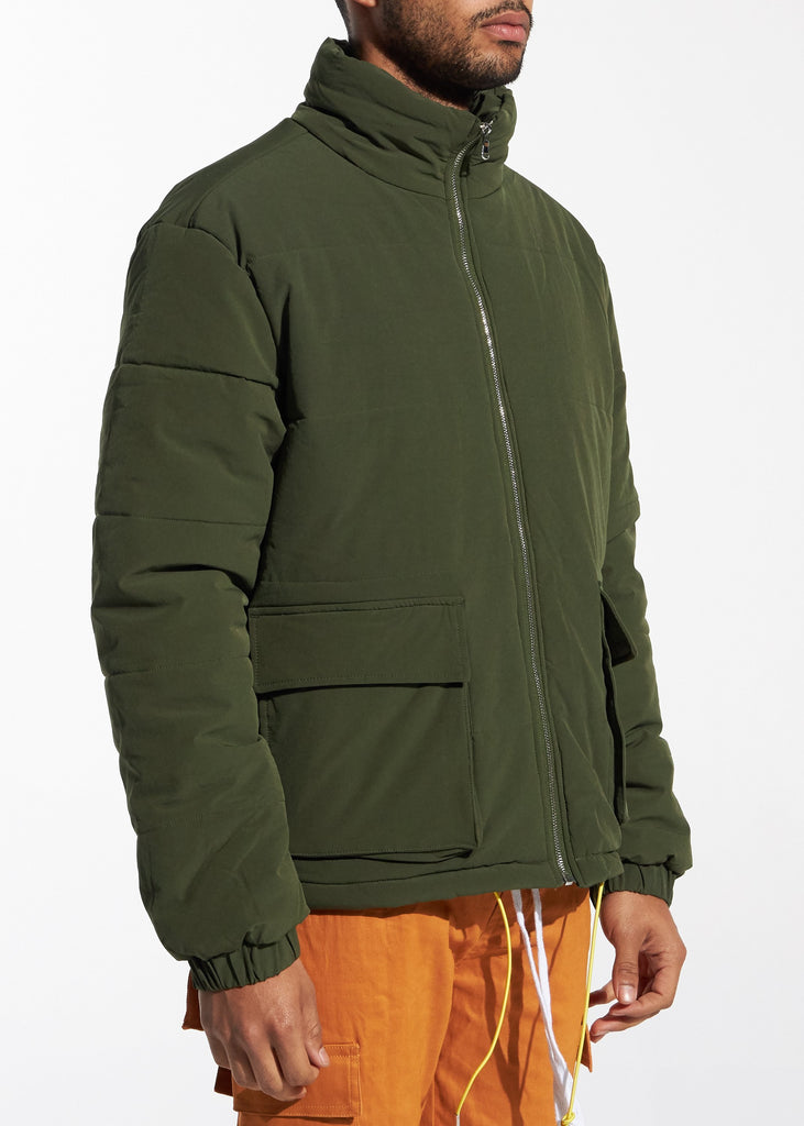 Puffer Jacket (Olive Green)