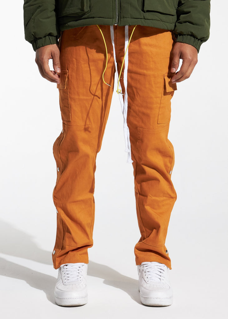 Snap Cargo Pants (Brown)