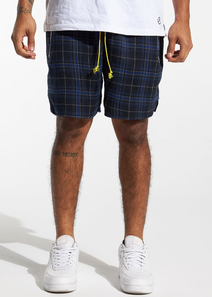 Tartan Shorts (Navy Plaid)