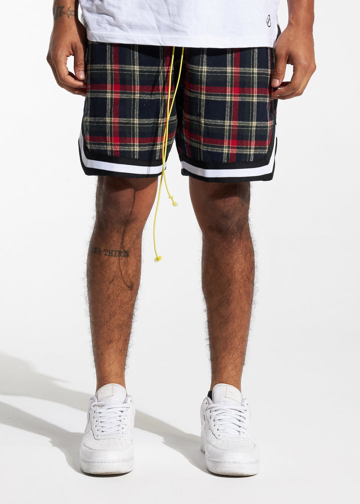 Tartan Basketball Shorts (Black Plaid)