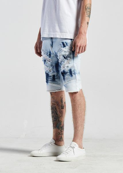 Bad Biker Shorts (Bleached Acid)