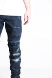 Brookland Distressed Denim (Dark Indigo)