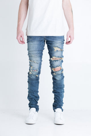 Satellite Biker Denim (Red wax)